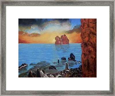 Sea Sunset Framed Print