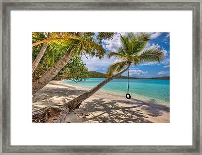 Sea Swing Framed Print
