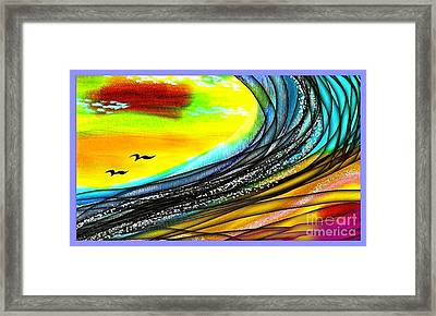 Sea Framed Print by The Art of Alice Terrill