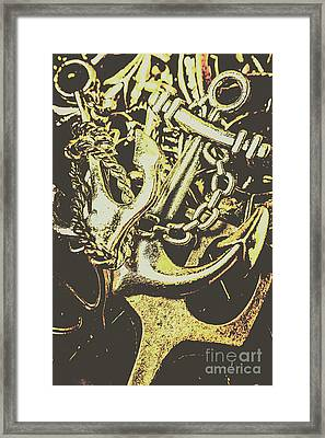 Sea Tides And Maritime Anchors Framed Print by Jorgo Photography - Wall Art Gallery