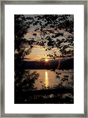 Sea To Sky Sunset In May Framed Print