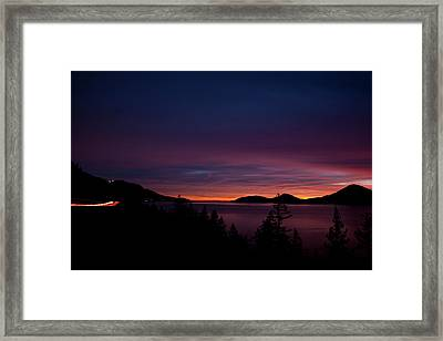 Sea To Sky Sunset Framed Print