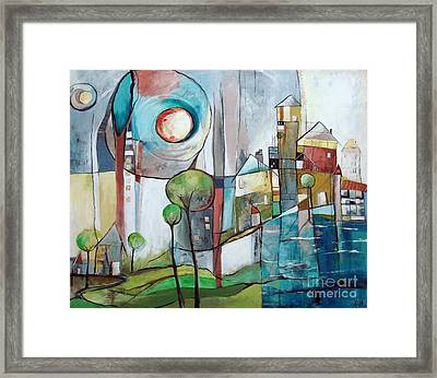 Sea Town Framed Print