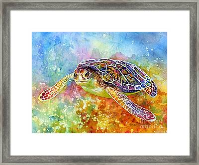 Sea Turtle 3 Framed Print by Hailey E Herrera