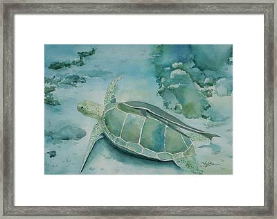 Sea Turtle And Friend Framed Print