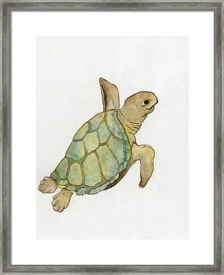 Sea Turtle Framed Print by Annemeet Hasidi- van der Leij