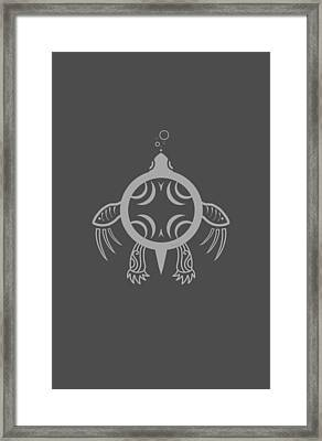 Sea Turtle Bubbles Framed Print by Christopher Szilagyi