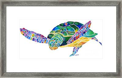Sea Turtle Celebration 4 Prints Only Framed Print by Jo Lynch