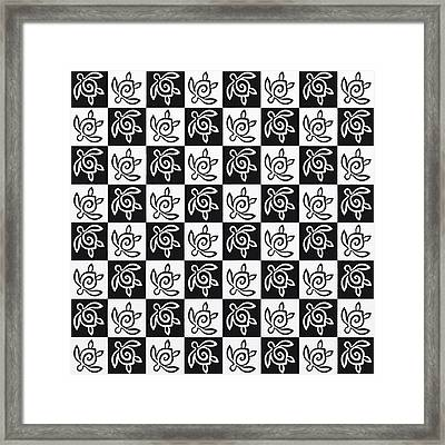Sea Turtle Checkers Framed Print