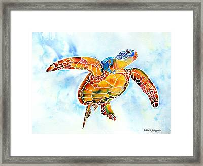 Sea Turtle Gentle Giant Framed Print by Jo Lynch