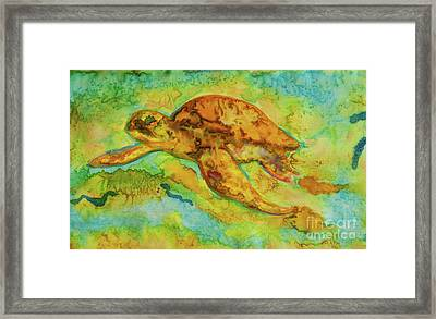 Sea Turtle Framed Print by Jacqueline Phillips-Weatherly