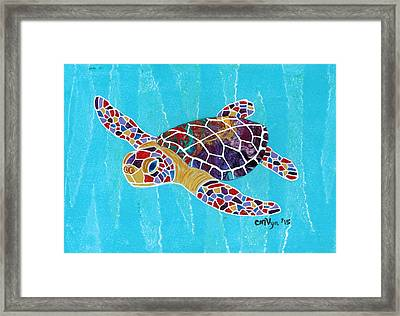Sea Turtle Framed Print by Michelle Vyn