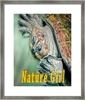 Sea Turtle Nature Girl Framed Print by LeeAnn McLaneGoetz McLaneGoetzStudioLLCcom