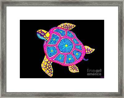 Sea Turtle Framed Print by Nick Gustafson