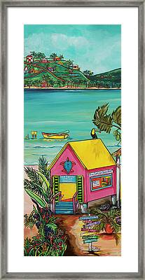 Framed Print featuring the painting Sea Turtle Rescue Center by Patti Schermerhorn