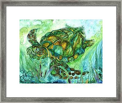Sea Turtle - Spirit Of Peace Framed Print by Carol Cavalaris