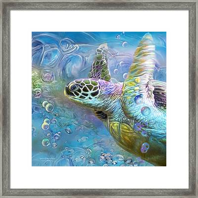 Sea Turtle - Spirit Of Serendipity Framed Print