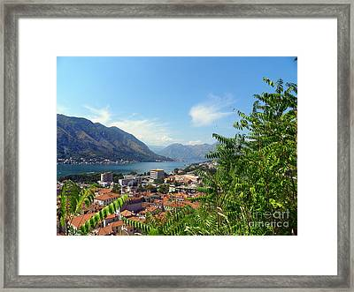 Sea View From Kotor Framed Print by Elizabeth Fontaine-Barr