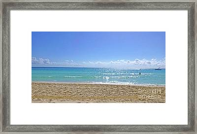 Framed Print featuring the photograph Sea View M2 by Francesca Mackenney