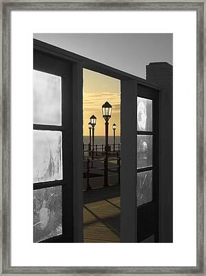 Sea View Framed Print by Hazy Apple