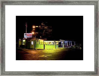 Framed Print featuring the photograph Sea View Snack Bar - Mystic Ct by Kirkodd Photography Of New England