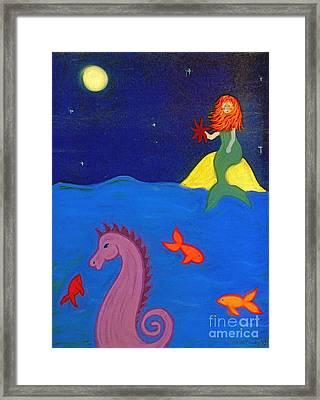 Sea Wishes Framed Print by Christine Crosby