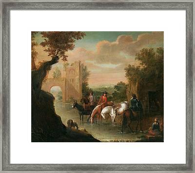 seaAdam Frans van der Meulen Flandern Framed Print
