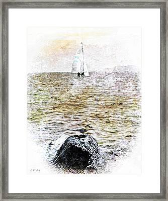 Seabird L'oiseau Et La Mer Framed Print by Jean Francois Gil