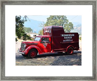 Seabiscuit's Truck Framed Print by Josephine Buschman