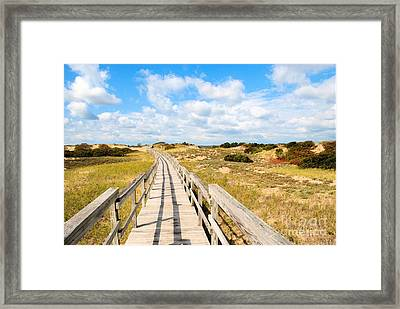 Seabound Boardwalk Framed Print