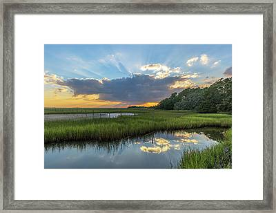 Seabrook Island Sunrays Framed Print