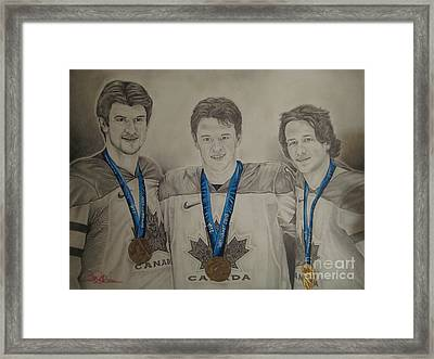 Seabrook Toews Keith Gold Medal Framed Print by Brian Schuster