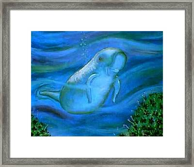 Seacow Named Smiley Framed Print by Tanna Lee M Wells