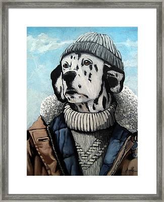 Seadog - Dalmation Animal Art Framed Print