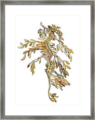 Seadragon Framed Print by Alexandra Panaiotidi