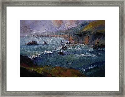 Seafoam Green Framed Print by R W Goetting