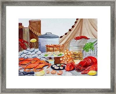 Seafood Feast Framed Print by Pauline Ross