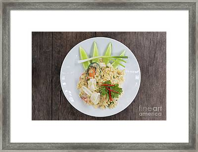 Seafood Fried Rice Framed Print by Atiketta Sangasaeng
