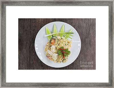 Seafood Fried Rice Framed Print