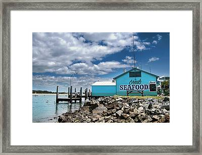 Seafood On The River  Framed Print