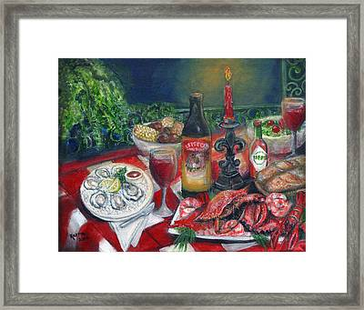 Seafood Soiree Framed Print