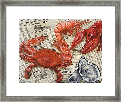 Seafood Special Edition Framed Print by JoAnn Wheeler