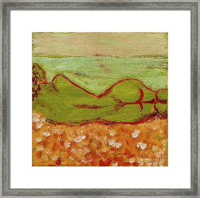Seagirlscape Framed Print