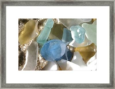Seaglass Framed Print by Mary Haber