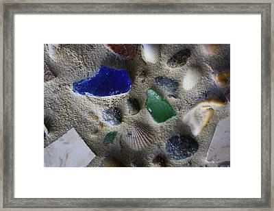 Seaglass Shells Rocks Framed Print