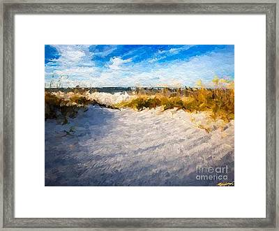 Seagrass Breeze Framed Print by Anthony Fishburne