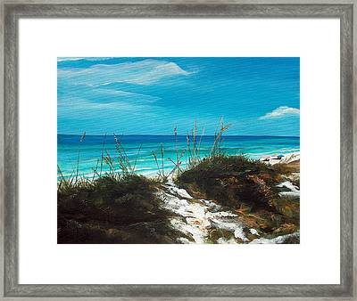 Seagrove Beach Florida Framed Print by Racquel Morgan