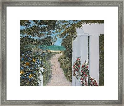 Seagrove Beach Framed Print by John Terry