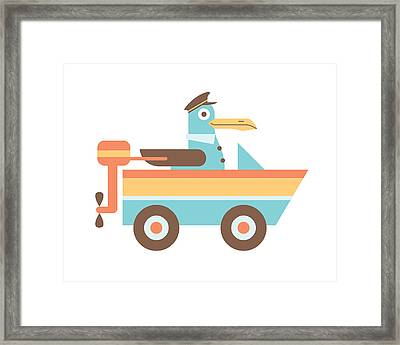 Seagull Sailor Framed Print by Mitch Frey