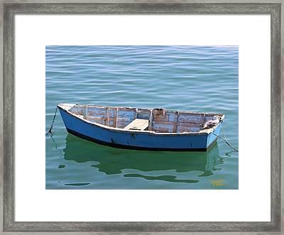 Seagull's Boat Framed Print